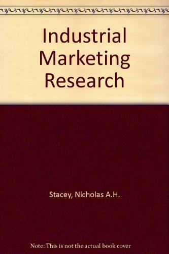 9780090993208: Industrial marketing research: management and technique (The Hutchinson marketing library)