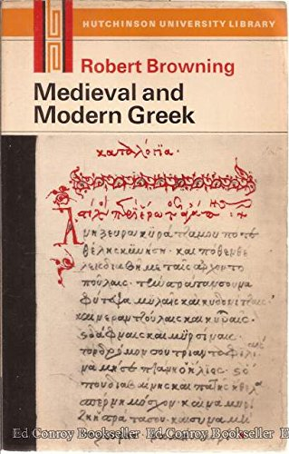 9780090996018: Medieval and Modern Greek