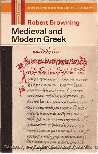 9780090996018: Medieval and Modern Greek