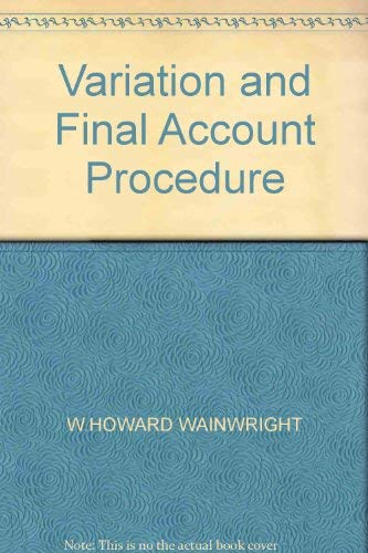 9780091009311: Variation and Final Account Procedure