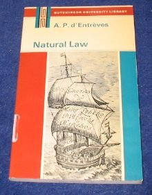 9780091026004: Natural Law: Introduction to Legal Philosophy ([Hutchinson's university library]: Philosophy)