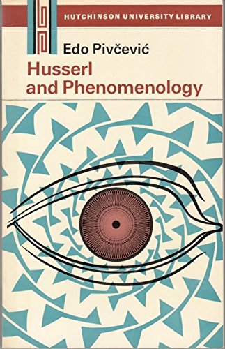 9780091029814: Husserl and Phenomenology (University Library)