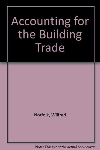 9780091080105: Accounting for the building trade
