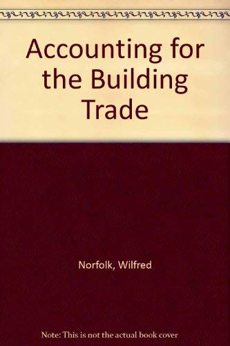 9780091080112: Accounting for the building trade
