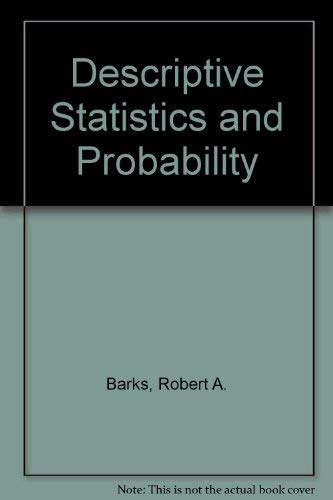 9780091125103: Descriptive statistics and probability theory