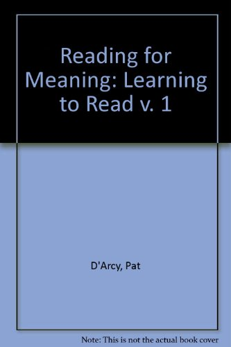 9780091149307: Reading for Meaning: Learning to Read v. 1