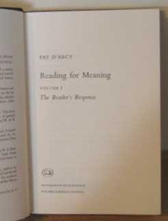 9780091149406: Reading for Meaning: The Reader's Response v. 2