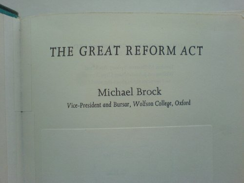 9780091159108: Great Reform Act (University Library)
