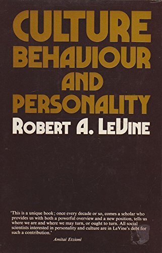 9780091175900: Culture, Behaviour and Personality