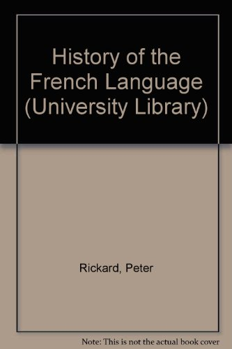 9780091187408: History of the French Language (University Library)