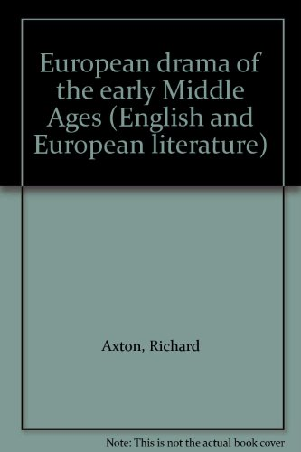 9780091192501: European drama of the early Middle Ages (English and European literature)