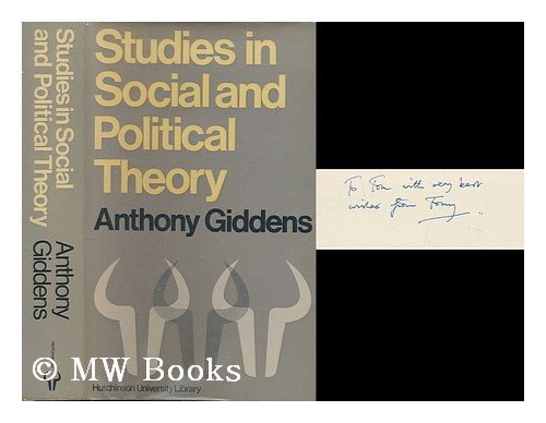 9780091292003: Studies in social and political theory
