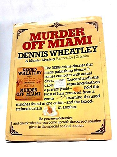 9780091383404: MURDER OFF MIAMI - A NEW ERA IN CRIME FICTION: A MURDER MYSTERY PLANNED BY J G LINKS