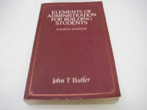 9780091494513: Elements of administration for building students