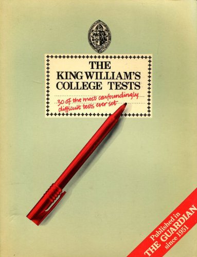 9780091498719: The King William's College Tests