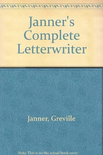 9780091518011: Janner's Complete Letterwriter