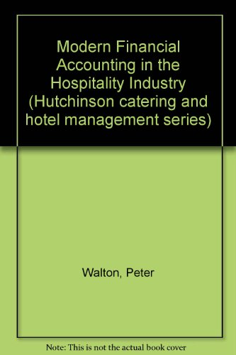 Modern Financial Accounting in the Hospitality Industry: Peter Walton