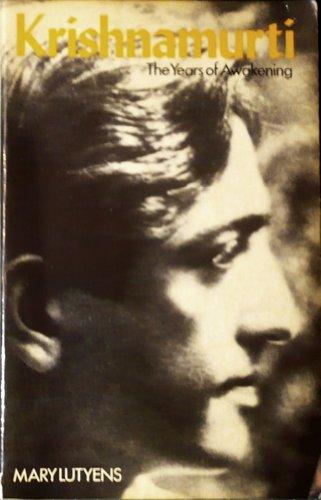 9780091553814: Krishnamurti-The Years of Awakening