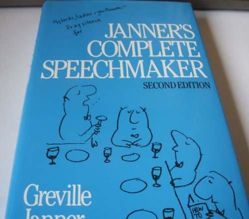 9780091582203: JANNER'S COMPLETE SPEECHMAKER
