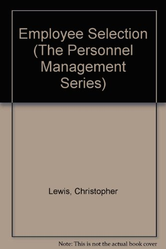 9780091582708: Employee Selection (The Personnel Management Series)