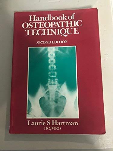 9780091606800: Handbook of Osteopathic Technique