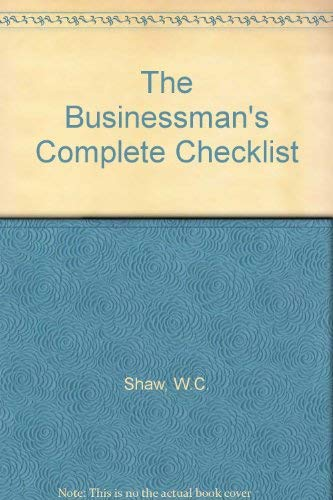 9780091626716: The Businessman's Complete Checklist