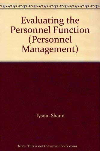 9780091641511: Evaluating the Personnel Function (Personnel Management)