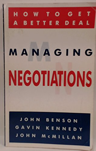 9780091688912: Managing Negotiations