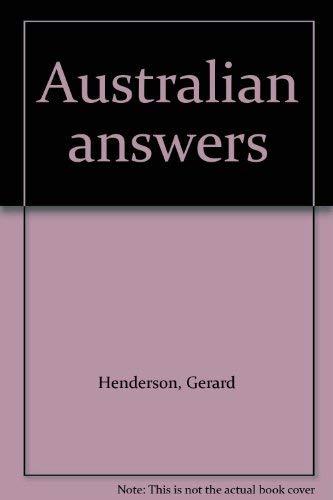 9780091699314: Australian answers