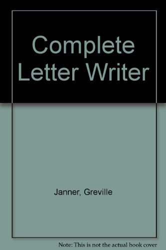 9780091739683: Complete Letter Writer