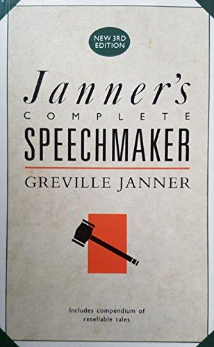 9780091740733: Janner's Complete Speechmaker