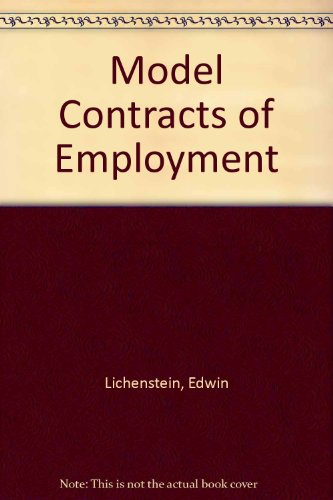 9780091740740: Model Contracts of Employment
