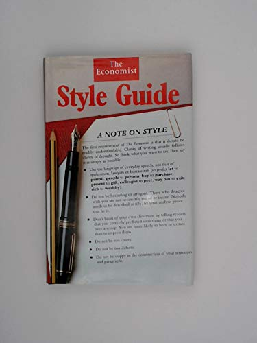 9780091746162: Economist Style Guide (Economist Desk Reference Set)