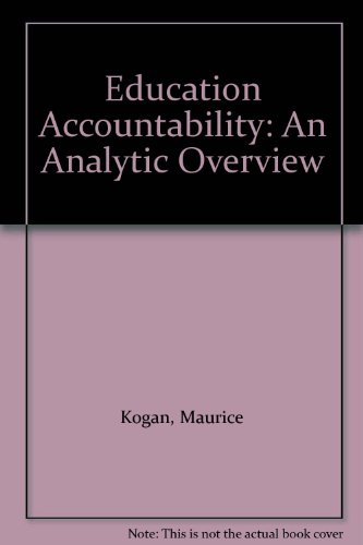 9780091757342: Education Accountability: An Analytic Overview