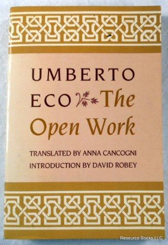9780091758967: The Open Work (Radius Books)