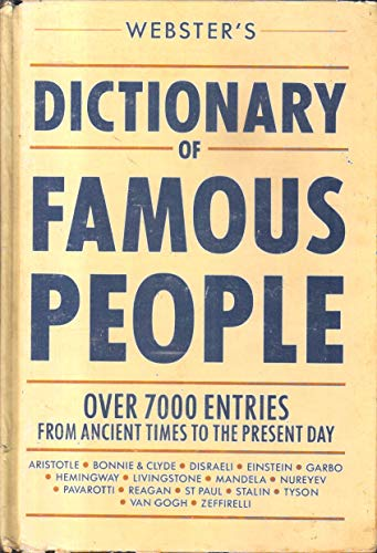 9780091771850: Websters Dict Famous People