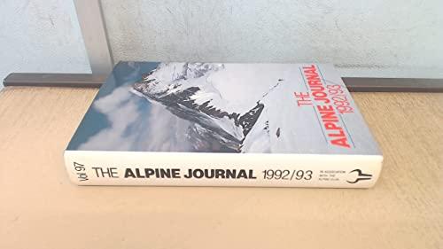 9780091774226: The Alpine Journal 1992-93
