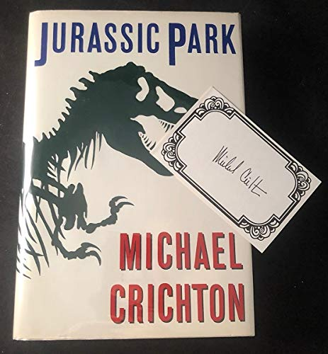 Jurassic Park (Fiction omnibus) Hardcover Signed First Edition
