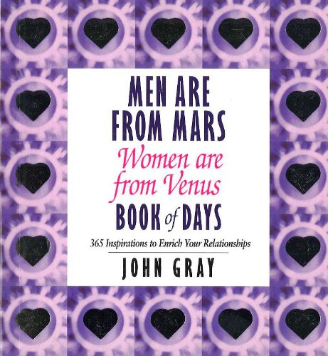 9780091827106: Men Are From Mars, Women Are From Venus Book Of Days: Book of Days: 365 Inspirations to Enrich Your Relationships
