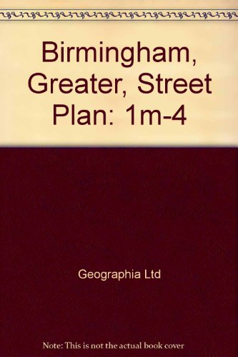 9780092003301: Birmingham, Greater, Street Plan: 1m-4