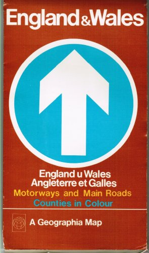 9780092023408: England and Wales Map: Motorways Map (English, French and German Edition)