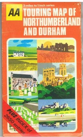 9780092037900: AA Touring Map of Northumberland and Durham