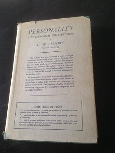 9780094536807: Personality: A Psychological Interpretation