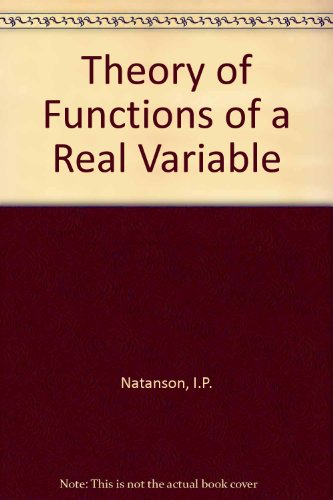 9780094551800: Theory of Functions of a Real Variable