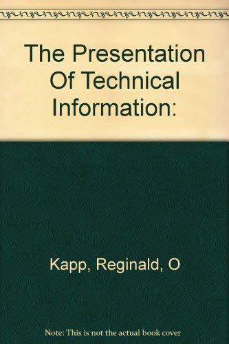 9780094590700: Presentation of Technical Information