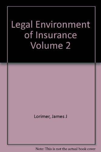 9780094630277: Legal Environment of Insurance Volume 2