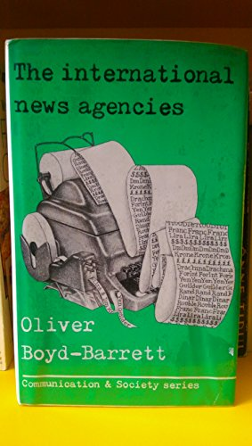 9780094634008: International News Agencies (Communication and society)