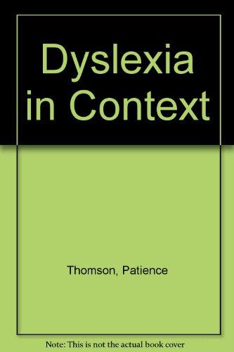 9780094802605: Dyslexia in Context