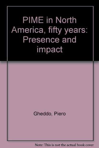 9780096420166: PIME in North America, fifty years: Presence and impact