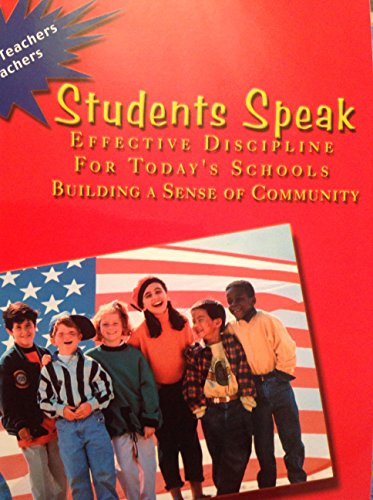 9780096648003: Students Speak Effective Discipline For